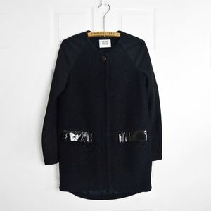 VERO MODA Black Wool Oliva Coat Jacket XS